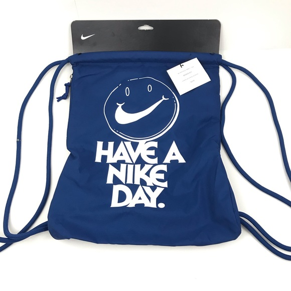 Nike Other - New Nike Have a Nike Day Smile Draw String Gym Bag